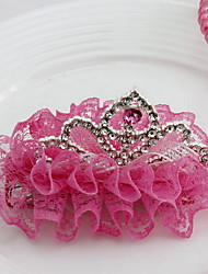 Women's Flower Girl's Fabric Tiaras  Hair Clip