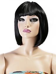 neitsi les filles des femmes cosplay court synthétique perruques de cheveux 160g / pc couleur noire