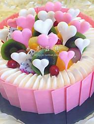 S. Valentim Festa Tableware-1Peça/Conjunto Acessório para Bolo Marcador Forma  para Comida de Silicone Tema rústico Forma de Coração