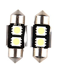 10pcs Canbus 2SMD 5050 31MM Festoon Interior Lights Error Free Dome Light With Tracking (DC12V)