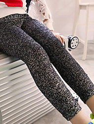 Girl's Cotton Spring/Autumn Fashion Bling Shiny Leggings Pants