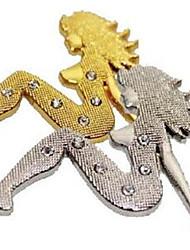 diamant autocollant métallique / autocollant de personnalité / beauté 3d accessoires voiture autocollants de voiture autocollants gratuits