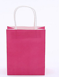 usine couleur directe vêtements vert sacs imprimés logo étagère kraft papier cadeau sac un paquet de dix