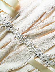 Satin Mariage Fête/Soirée Quotidien Ceinture-Paillettes Billes Appliques Strass Femme 250cm Paillettes Billes Appliques Strass