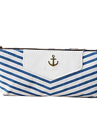 Korea Stationery Bags Student Triangular Cloth Navy Style Stripe Pencil Case