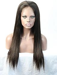 grau 8a 100% cabelo humano peruca dianteira reto de seda sem cola peruca cheia do laço / laço