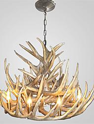 vintage Antler chandelier lighting Industrial Fixture Country 9-Lights for Living Room Dining room Easy Installation