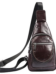 Men Cowhide Outdoor Shoulder Bag