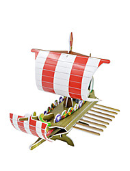 Boat model 3D paper cardboard figure advertising toys  4IN1