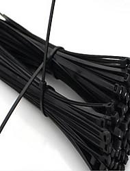 gb nylon verde fascette fascette legami ad alta temperatura 4 * 200mm 500 Tiao cravatta nera un sacchetto di cinquecento