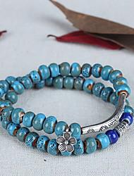 6mm China china Silver Ceremic Strand Beads Bracelet