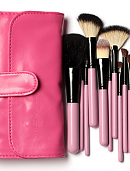 12Pcs Wool Makeup Brushes Set