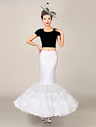 Slips Mermaid and Trumpet Gown Slip Floor-length 3 Tulle Netting / Polyester Birdal Petticoats White