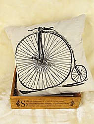 Bicycle Graphic Prints Cotton/Linen Pillow Cover