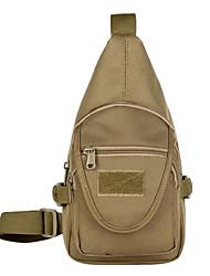 муж. Слинг сумки на ремне Нейлон Повседневные Черный Зеленый Хаки