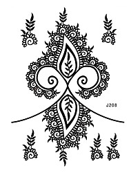1pc Waterproof Tattoo Floret Earring Woman Body Art Black Henna Temporary Tattoo Sticker BJ208