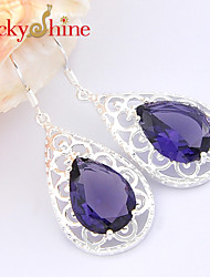 Drop Earrings Crystal Fashion Flower Drop Jewelry Wedding Party Daily Casual Sports 1 pair