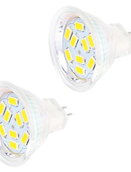 4W GU4(MR11) LED à Double Broches MR11 9 SMD 5730 400 lm Blanc Chaud / Blanc Froid Décorative DC 12 V 2 pièces