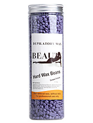 Free Paper Solid Depilatory Wax Beans Hard Wax Beans Solid Wax Pearl for Men/Wmen Body Hair Epilation 400G/jar