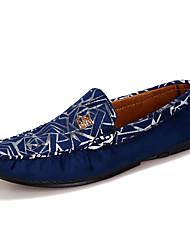 Herrenschuhe-Lässig-Flache Schuhe-Vlies-Schwarz / Blau / Rot