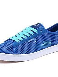 Femme-Décontracté-Bleu / Gris-Talon Plat-Confort-Sneakers-Tulle