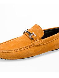 Men's Loafers & Slip-Ons Spring / Fall Comfort Suede Casual Flat Heel Slip-on Blue / Yellow / Tan Walking