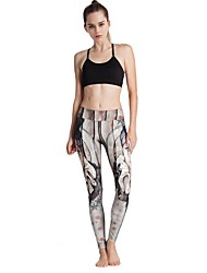 MIDUO Women's Compression Yoga Bottoms Gray-YD46 034