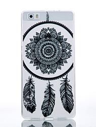 TPU Material Black Campanula Pattern Cellphone Case for Huawei P9Lite/P9/P8Lite