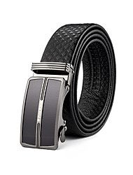 Men's Dress Belts Plaid Cowhide Waist Belt,Vintage / Party / Work / Casual Leather All Seasons