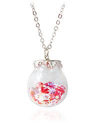 Necklace Pendant Necklaces Jewelry Wedding Fashion Alloy Orange / Pink 1pc Gift