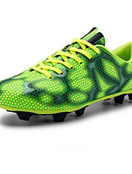 Men's Shoes Tulle Athletic Athletic Shoes Athletic Soccer Flat Heel Lace-up Green / Red / Gray / Gold