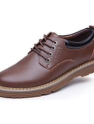Westland® Men's Oxfords Comfort Microfibre Office & Career / Casual Low Heel Lace-up Black / Brown / Yellow Walking