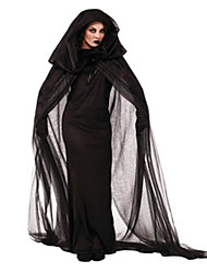 Cosplay Costumes/Party Costumes Ghost / Zombie / Vampires Halloween / Christmas / Carnival Black Vintage Dress / Cloak Halloween/Christmas/New Year
