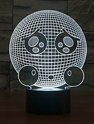 Ausdruck Touch Dimm-3D-Nachtlicht 7colorful Dekoration Atmosphäre Lampe Neuheit Beleuchtung Weihnachten Licht geführt
