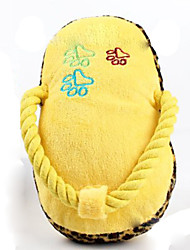 Cat Toy Dog Toy Pet Toys Plush Toy Squeaking Toy Squeak / Squeaking Shoes Yellow Plush