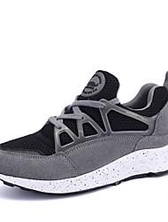 Da donna-Sneakers-Casual-Comoda-Piatto-Tessuto / Scamosciato-Nero / Rosso / Grigio