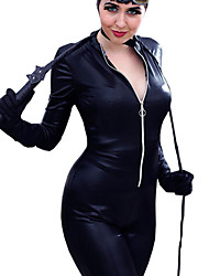 Women'S PUNK Wetlook Vinyl PVC Catsuit Bodysuit Jumpsuit Rompers Costume Clubwear