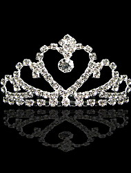 Children Crown Heart Alloy Tiaras