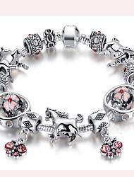 Bracelet Charmes pour Bracelets / Bracelets de rive Acier inoxydable Forme de Cercle Durable / Mode / Bohemia styleMariage / Soirée /