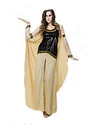 Fantasias de Cosplay Rainha / Fantasias Egípcias Cosplay de Filmes Amarelo Cor Única Vestido / Bracelete de Braço / BraceleteDia Das