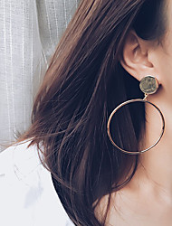 Women's Hoop Earrings Fashion Personalized Alloy Circle Round Jewelry For Daily Casual