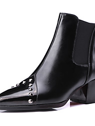 Women's Boots Spring / Fall / Winter Fashion Boots / Motorcycle Boots / Pointed Toe Outdoor / Dress / Casual Chunky Heel