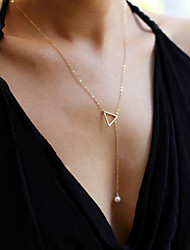 Necklace Pendant Necklaces / Chain Necklaces Jewelry Wedding / Party / Daily Fashionable / Adorable / Personality Alloy Gold / Silver 1pc