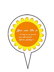 Aniversário Festa Tableware-100Peça/Conjunto Acessório para Bolo Marcador Cartão de Papel Duro Tema rústico Other Não-Personalizado