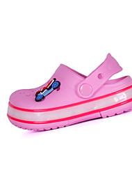 Girls' Shoes Dress / Casual Nappa Leather Slippers & Flip-Flops Summer Slippers Flat Heel Others Blue / Green / Pink