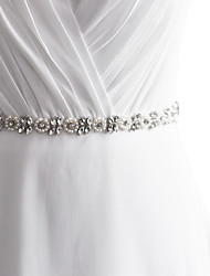 Satin Mariage Fête/Soirée Quotidien Ceinture-Paillettes Billes Appliques Perles Strass Femme 250cmPaillettes Billes Appliques Perles