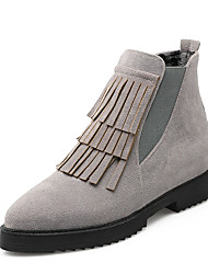 Women's Boots Winter Motorcycle Boots / Bootie / Pointed Toe Dress Low Heel Slip-on / Tassel Black / Gray Others