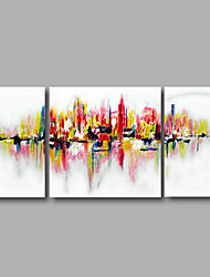 "Stretched (Ready to hang) Hand-Painted Oil Painting 56""x28"" Canvas Wall Art Modern Abstract Pink Blue"