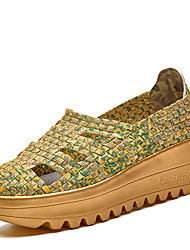 Women's Fashion Weaving Hallow Breathable Thick Sole Shoes in Casual Style for Walking/Entertainment