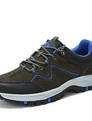 Femme-Sport-Bleu / Marron-Talon Plat-Bout Arrondi-Sneakers-Tulle